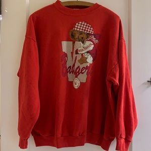 Vintage Wisconsin Badgers Teddy Bear Sweatshirt